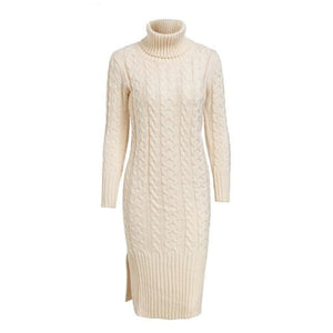 Apricot Color Dress Winter