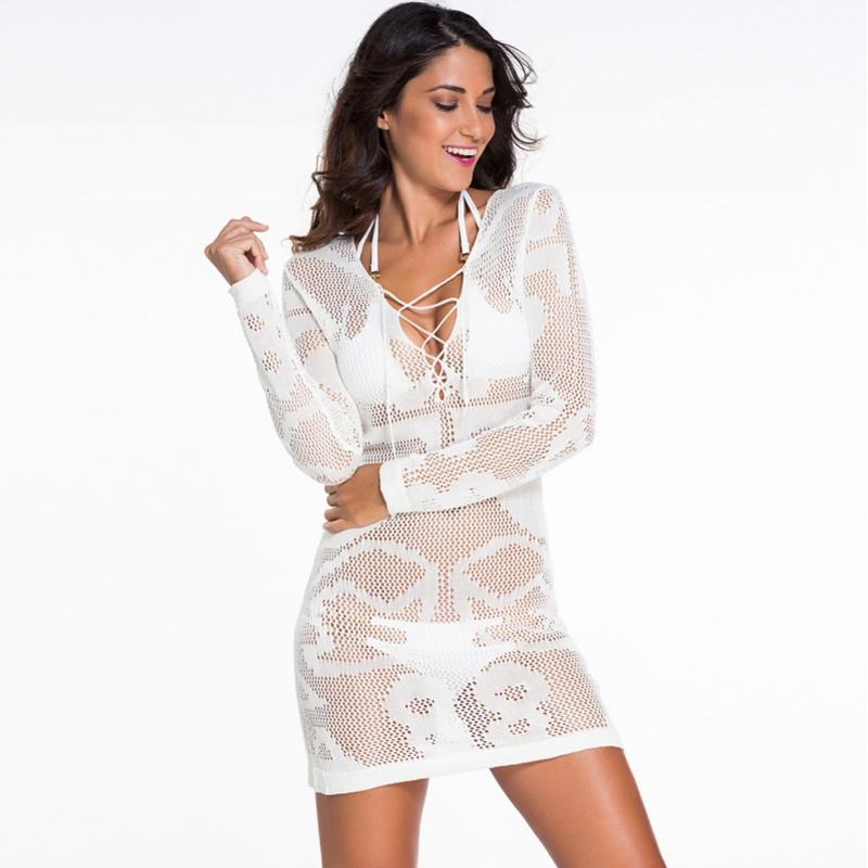 Cotton Deep-V | Beach Cover Up