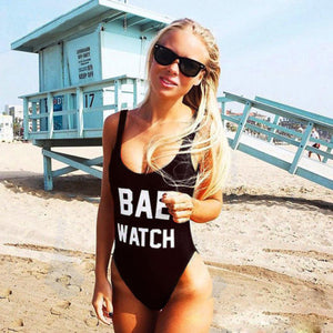 Black Bae Watch One-piece Swimsuit