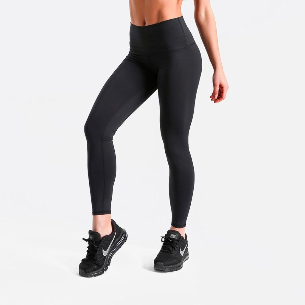 Solid Black High Waist Leggings Casual Leggings for Work