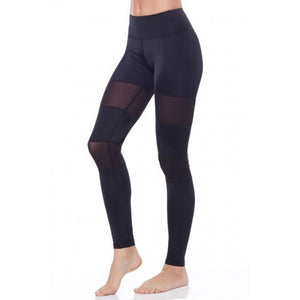 Black Mesh Leggings High Waisted Yoga Pants for Women