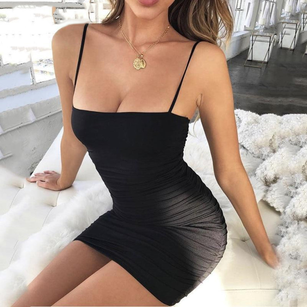 Black Mini Party Dress Outfit Clubbing