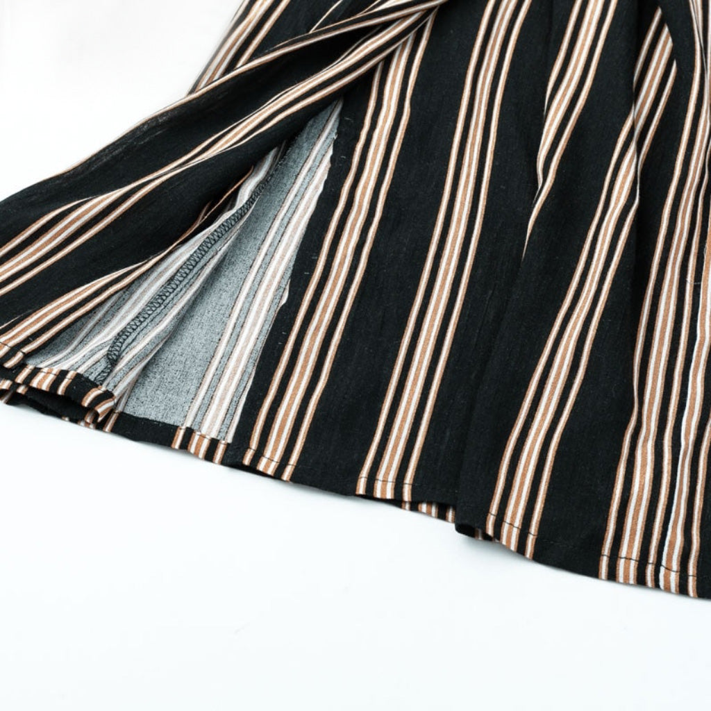 Striped Wide Leg Street Style Pants Women