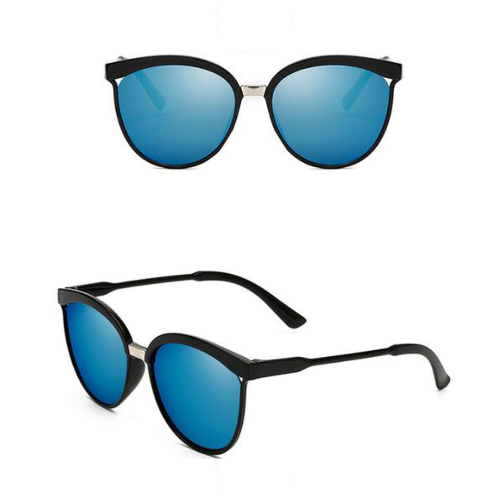 Blue Cat Eye Sunglasses Bold