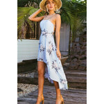 Blue High Low Dress Backless Dress Classy Outfit Ideas Blue Floral Dress