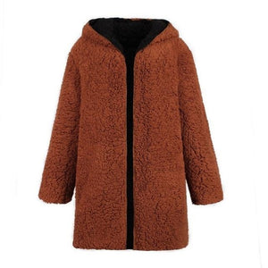 Brown Fluffy Jacket Reversible Lambswool Jacket