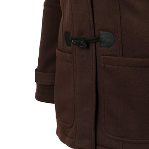 Brown Trench Coat Female with hood and Long Bottom