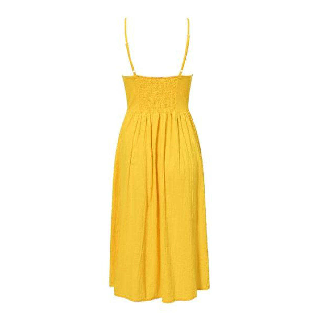 Casual Summer Dress Yellow