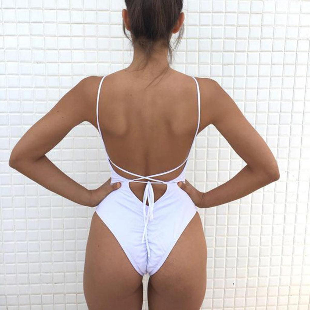 Cheeky Bottom One-piece Swimsuit Backless