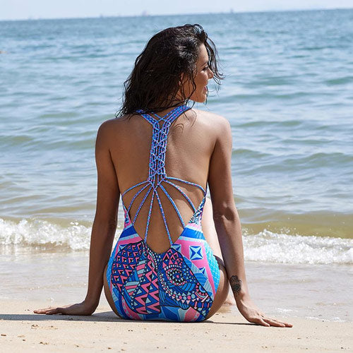 Elephant Swimsuit Strappy Back One-piece Swimwear