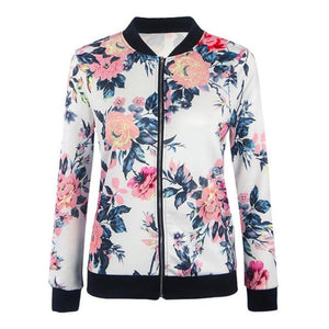 Flower Bomber Jacket for Women's fall or spring fashion Lightweight bomber jackets