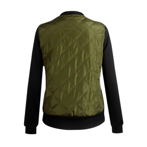 Green Women's Bomber Jacket with Pocket Outfits for Fall