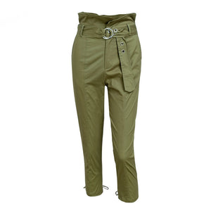 Army Green Capris Pants Women