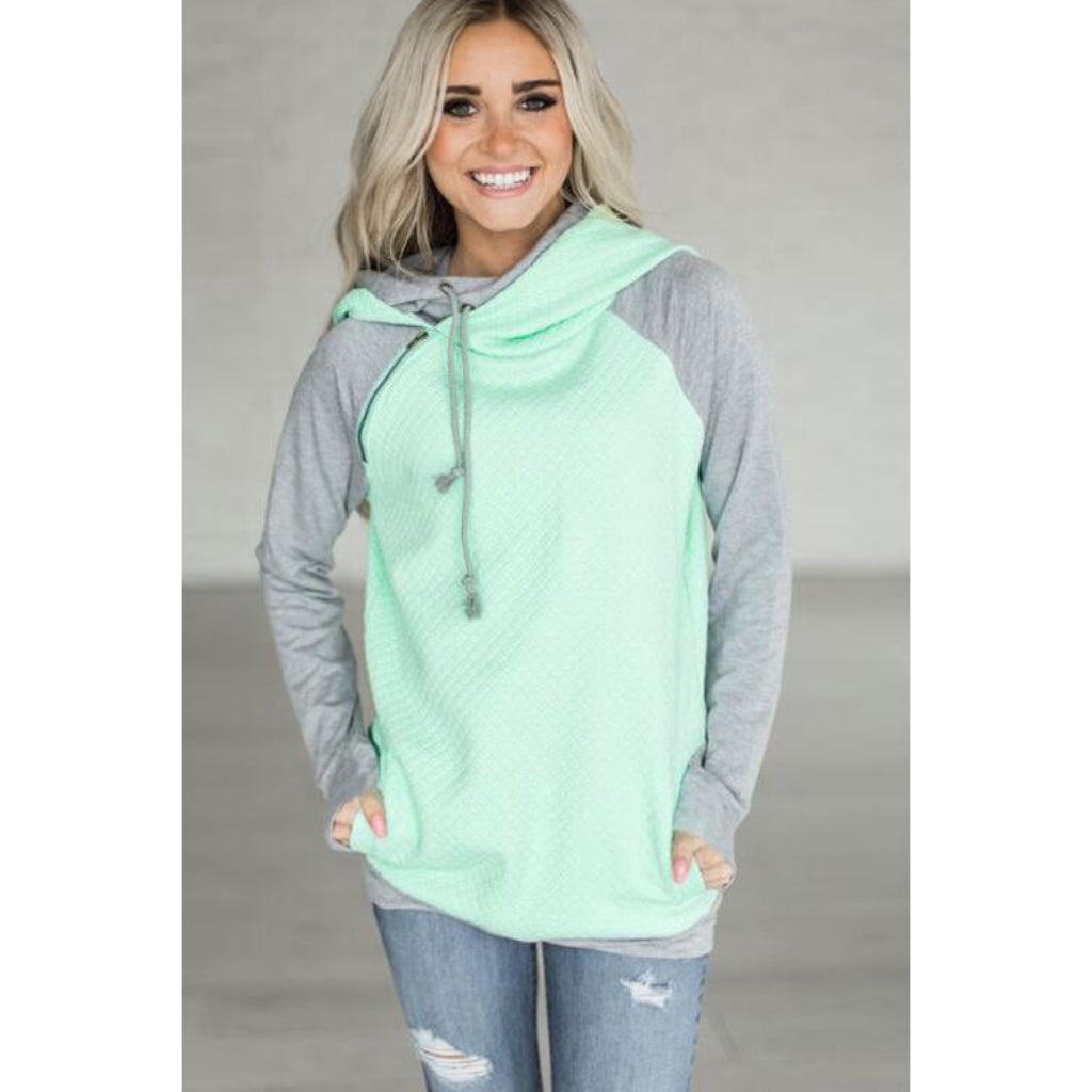 Green Street Style Hoodie Casual Outfit
