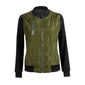 Green Women's Bomber Jackets with pocket great style for fall outfits