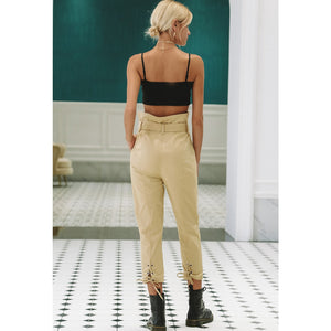 Flattering High Waist Capri Pants