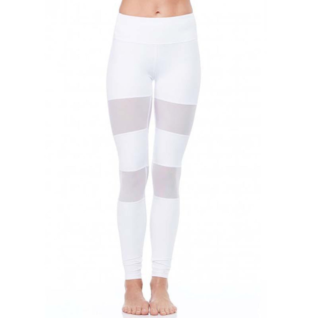 White High Waist Mesh Leggings for yoga