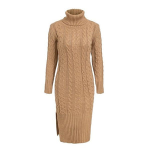 Khaki Color Dress Winter