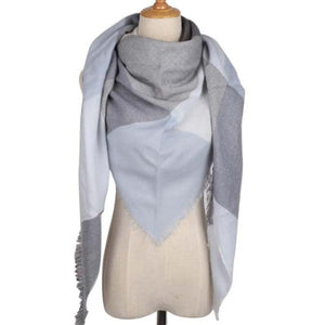 Light Blue Scarf Street Style Fashion Women