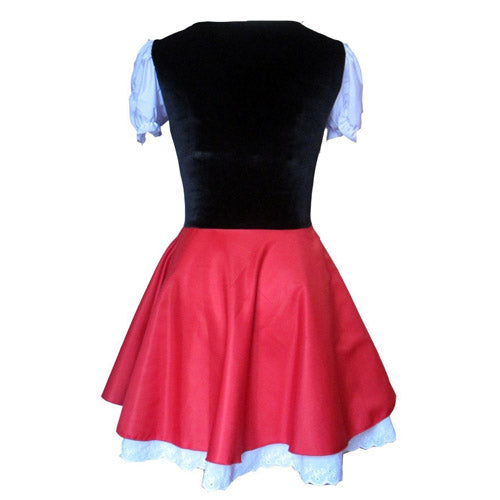 Little Red Riding Hood Dress Back Women's Halloween Costume
