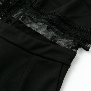 Black Mesh Jumpsuit Torso