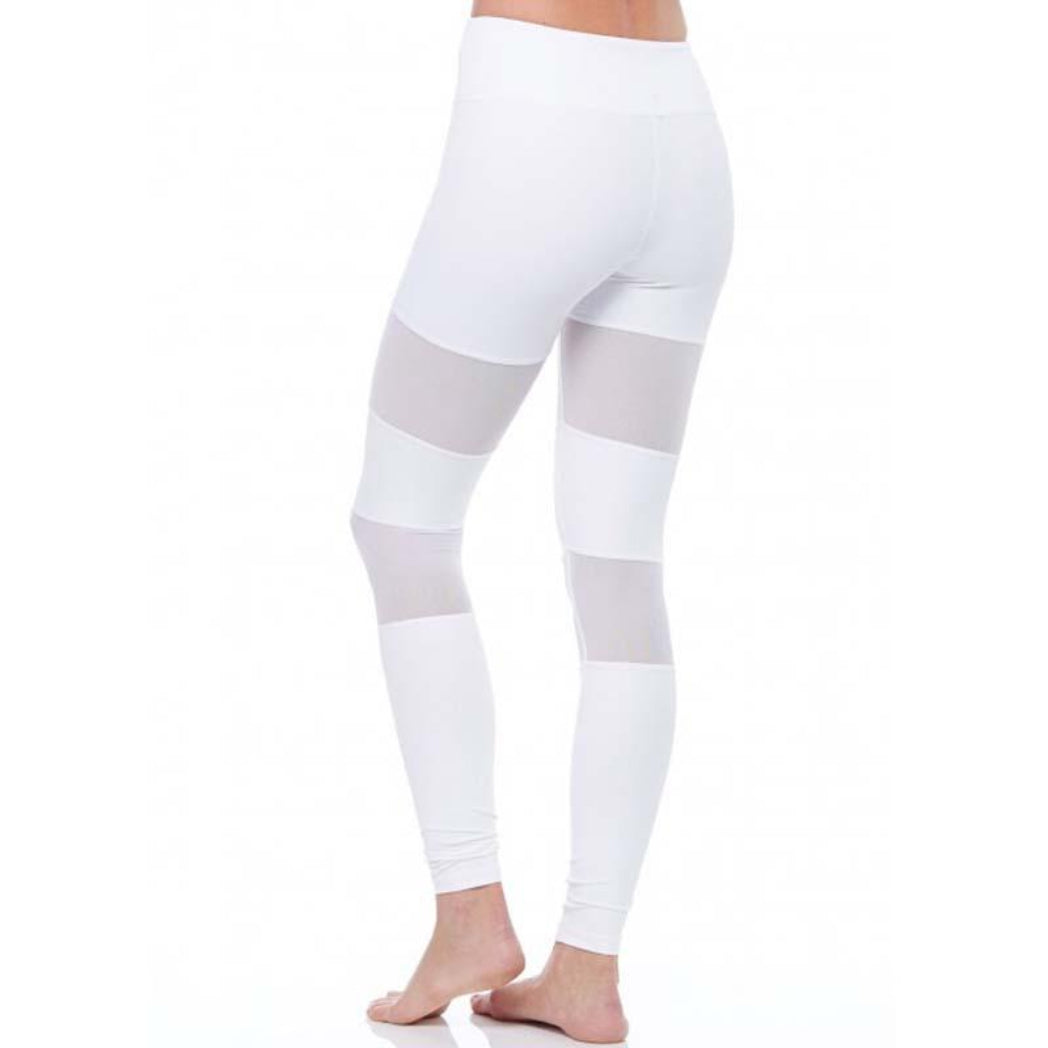 Mesh Leggings White High Waist Leggings With Mesh Cutouts Women