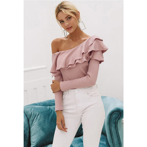 One Shoulder Pink Top Street Style