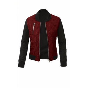 Red Bomber Jacket Women Stylish Fall Outfits