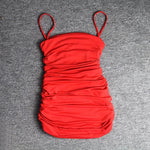 Red Mini Party Dress Outfit