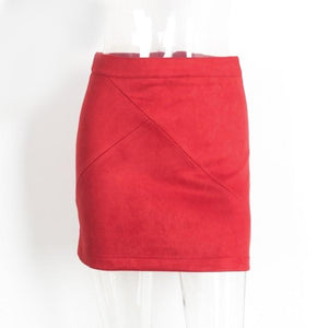 Red Mini Pencil Skirt