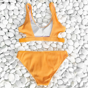 Yellow Bikini with Cutouts Sierra Swimsuit