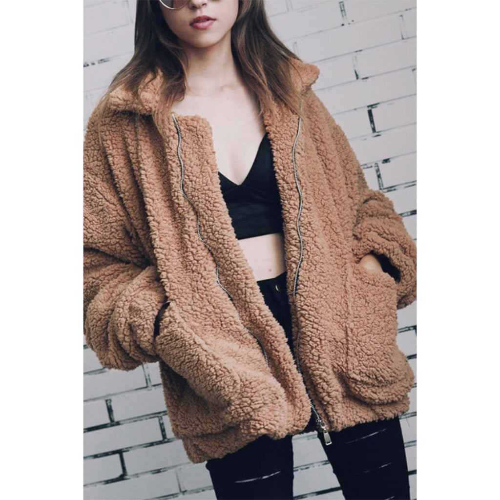 c6a5563d215 Faux Sherpa Bomber Jacket | Soft and Fluffy Jacket | 75% Off Today