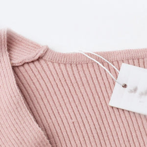 Cross V-neck Pullover Sweater