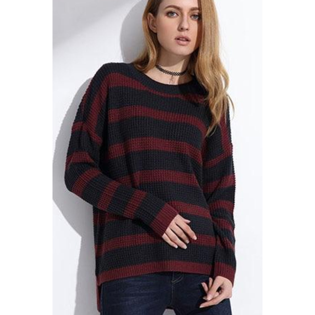 Striped Long Sleeve | Knitted Pullover Sweater