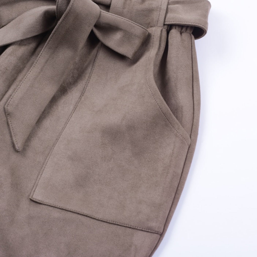 Suede Pants with Pocket
