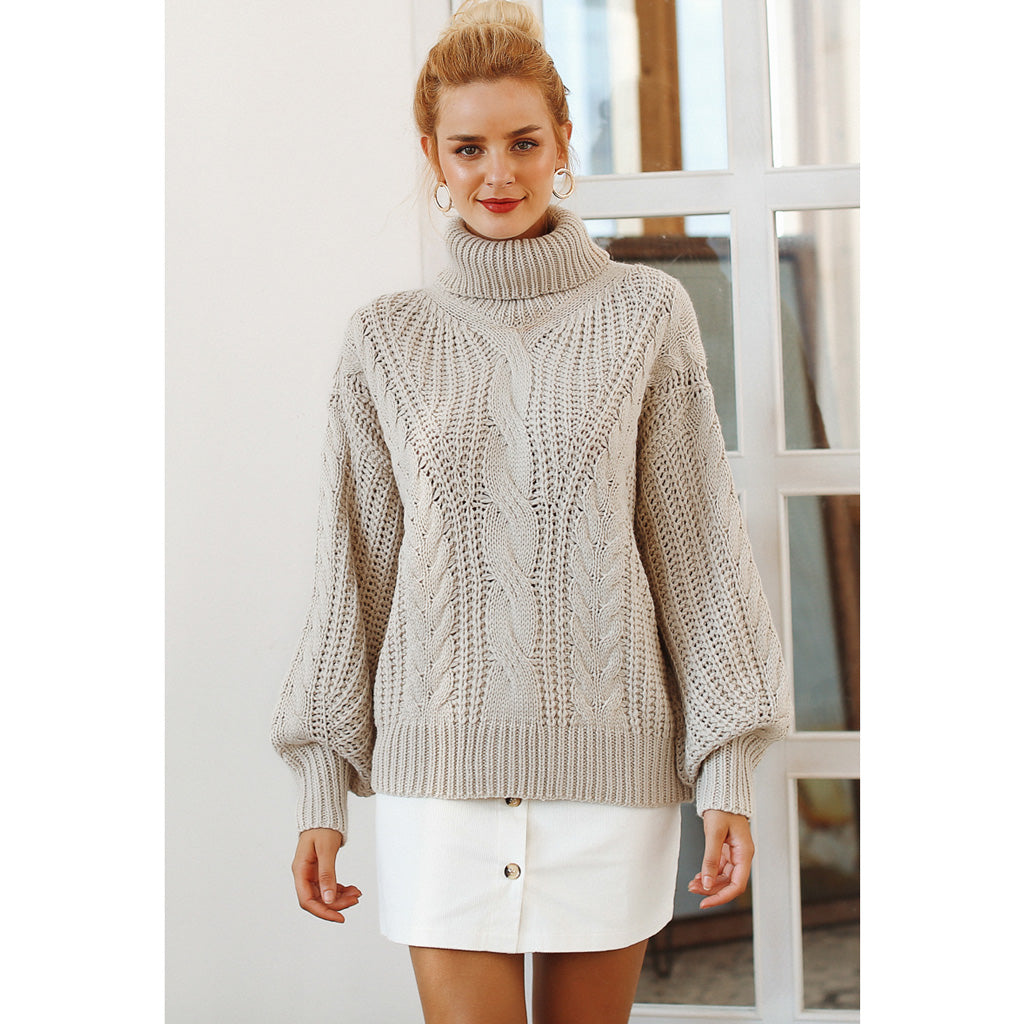 Turtleneck Loose Long Sleeve Sweater