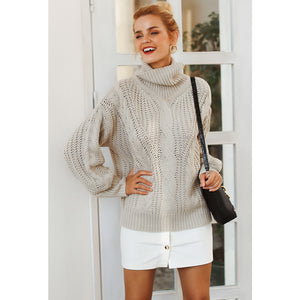 Loose Turtleneck Long Sleeve Sweater Casual Street Style