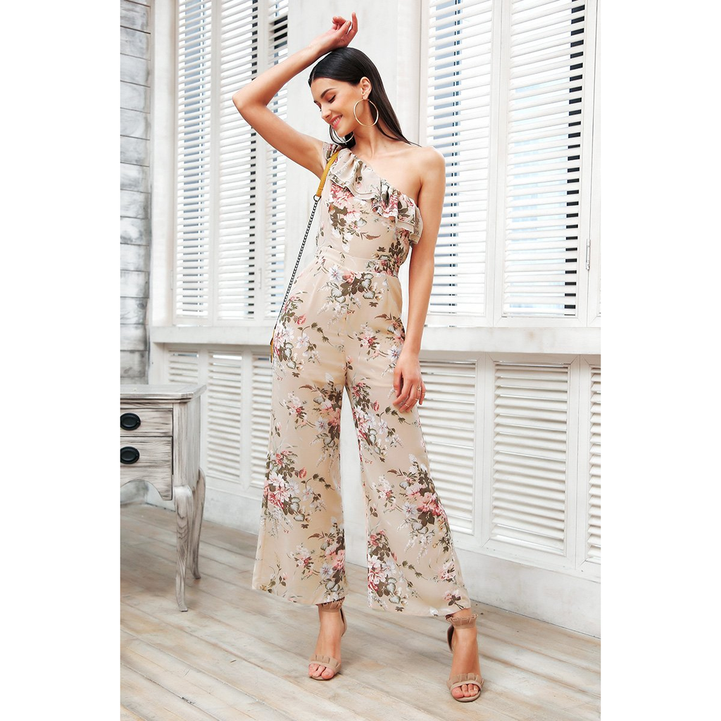 Ruffle One Shoulder | Bohemian Jumpsuit