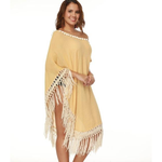 Beige Tassel | Beach Cover Up
