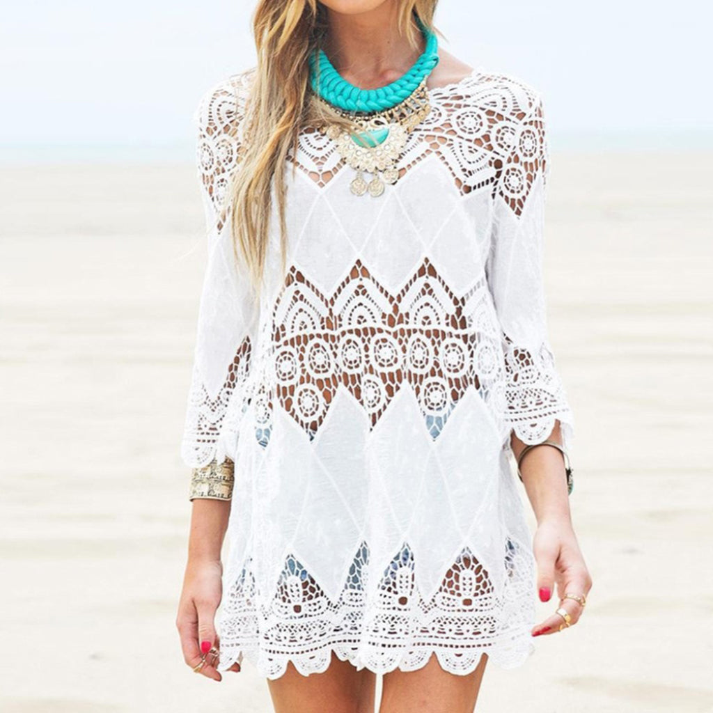 White Lace Beach Cover-up