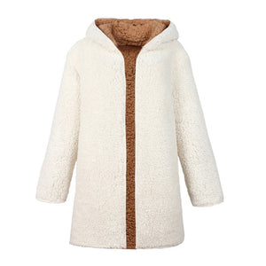 White Lambswool Jacket Reversible Outfit Jacket