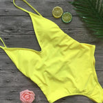 Solid Color | High Leg One-piece