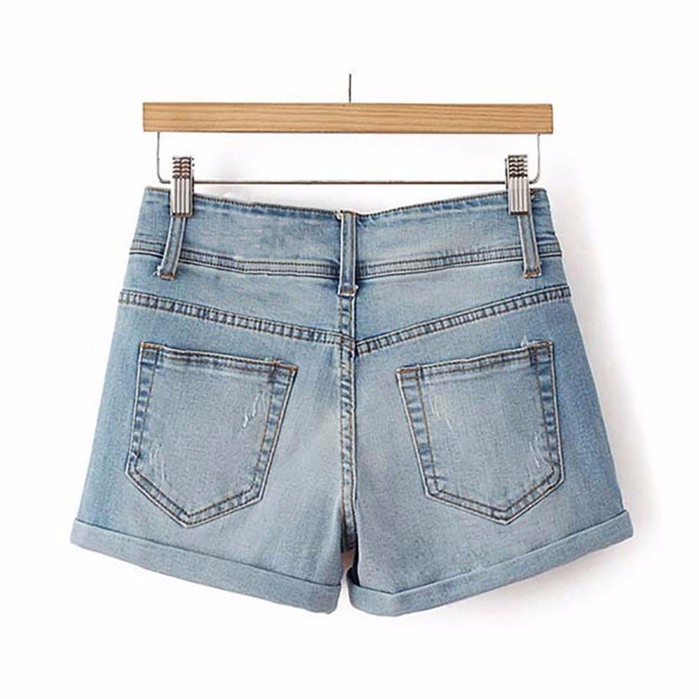 3 Button High Waist | Denim Shorts