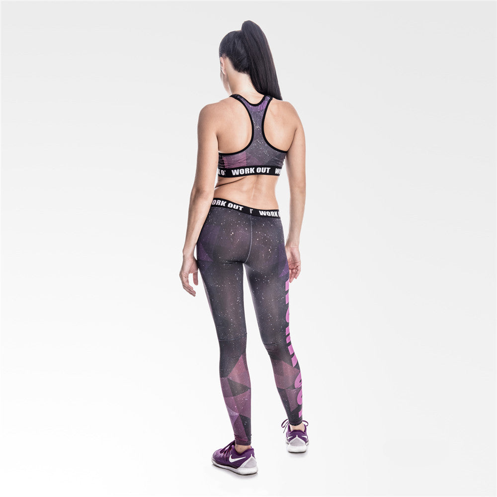 Galaxy Work Out | Athletic Leggings
