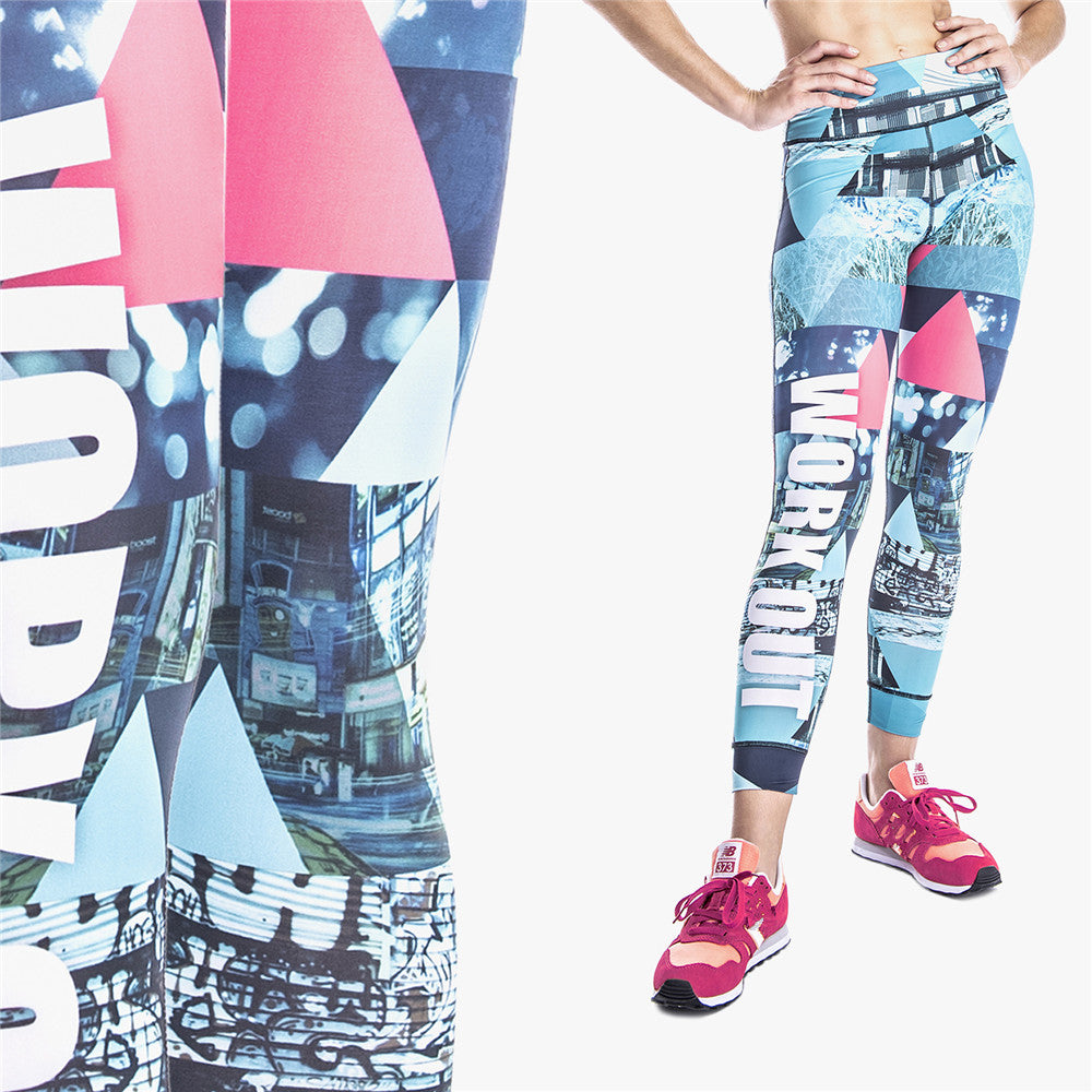 Retro Graphics Work Out | Athletic Leggings