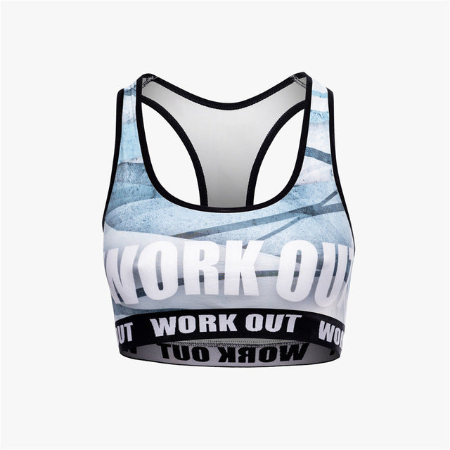 Blue Bandage Work Out | Compression Sports Bra