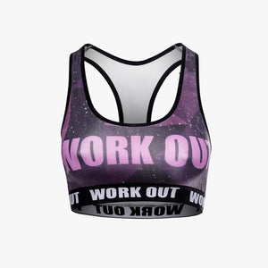 Galaxy Work Out | Compression Sports Bra