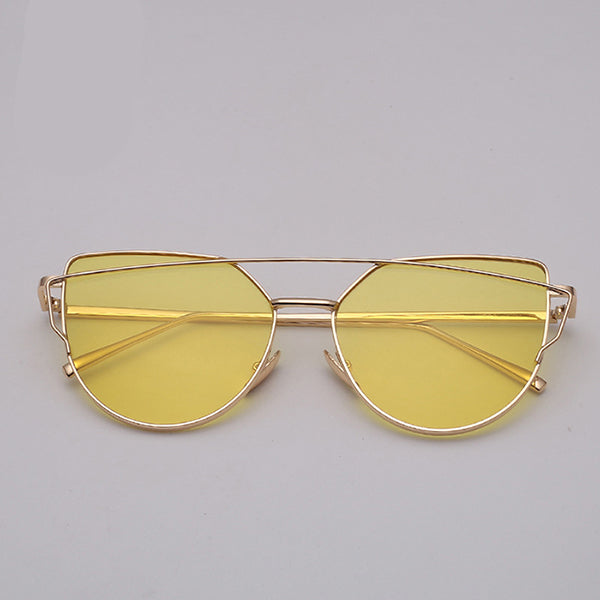 LeonLion Top Bar |  Mirrored Cat Eye Sunglasses
