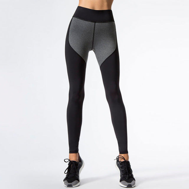 Two-tone Pattern | High Waist Leggings