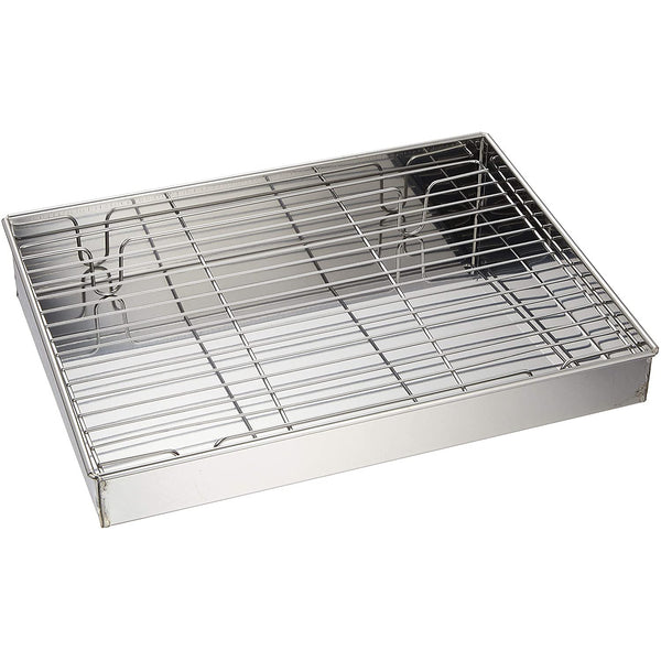 Stainless Steel Tempura Rack and Pan